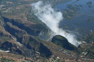 The beauty of Zambia - Victoria Falls from the air.(picture courtesy of Andy Kradolfer)