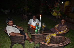 The middle class in Zambia is growing. A girl's night out at one of Kitwe's finer restaurants.