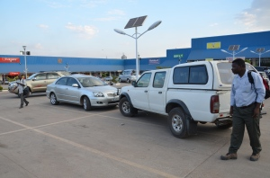 Shopping malls full of vehicles are not a strange sight in Zambia.