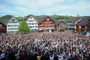 Landsgemeinde Appenzell Innerrhoden, picture from website of CVP Party, Appenzell
